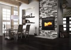Valcourt Cartier Wood Fireplace