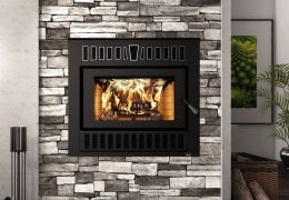 Valcourt Wood Fireplace