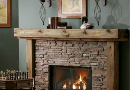 Cottage Country Gas Fireplace
