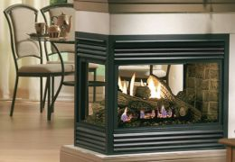 Double Sided Gas Fireplace Marquis