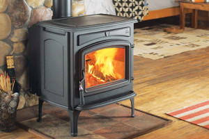 fireplace installation of wood stove