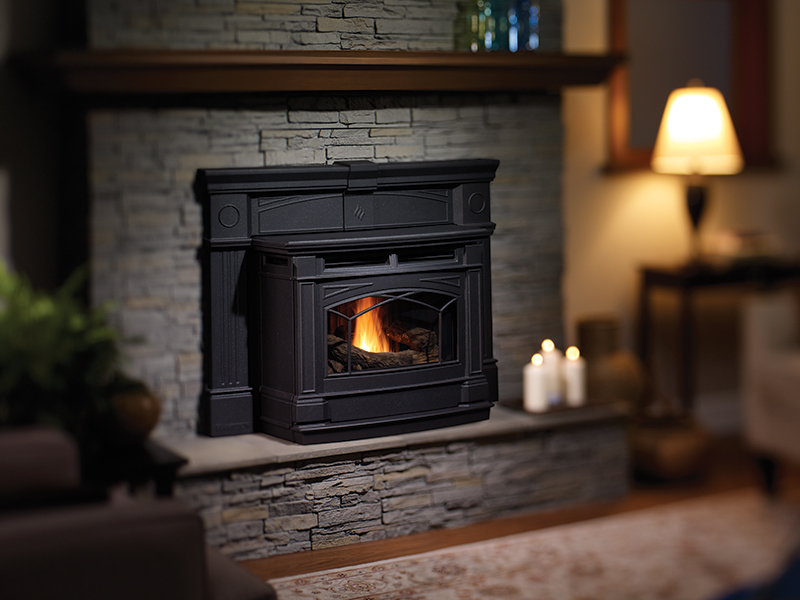 pellet stove inserts the original flame peterborough. Black Bedroom Furniture Sets. Home Design Ideas