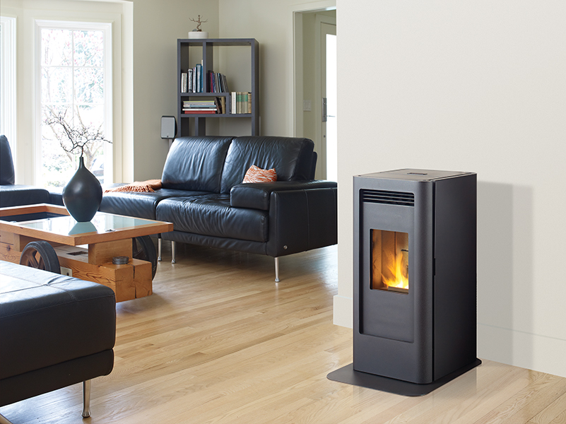 Pellet stove suppliers the original flame peterborough for Stufe regency