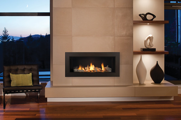 L1 Series With Driftwood, Fluted Black Liner And 3 1 2 Inch Surround In Bronze M