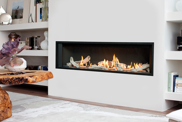 L3 Linear Series With Driftwood, Fluted Black Liner And 1 Inch Surround Alt M