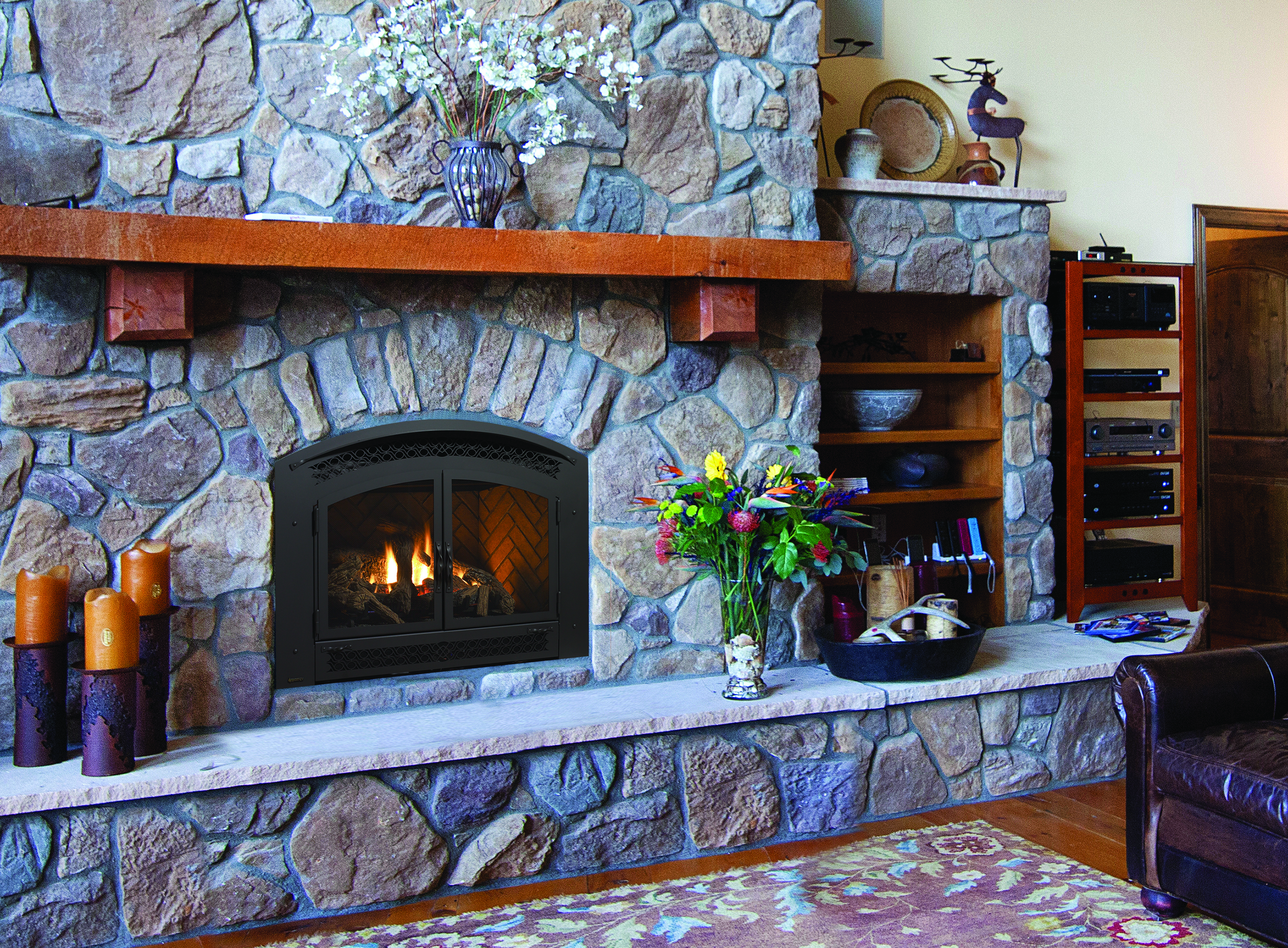 Gas fireplace P90-1